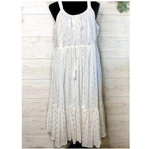 Lane Bryant White Midi Sundress Size 14-16